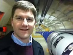 Prof. Nielsen with LHC model
