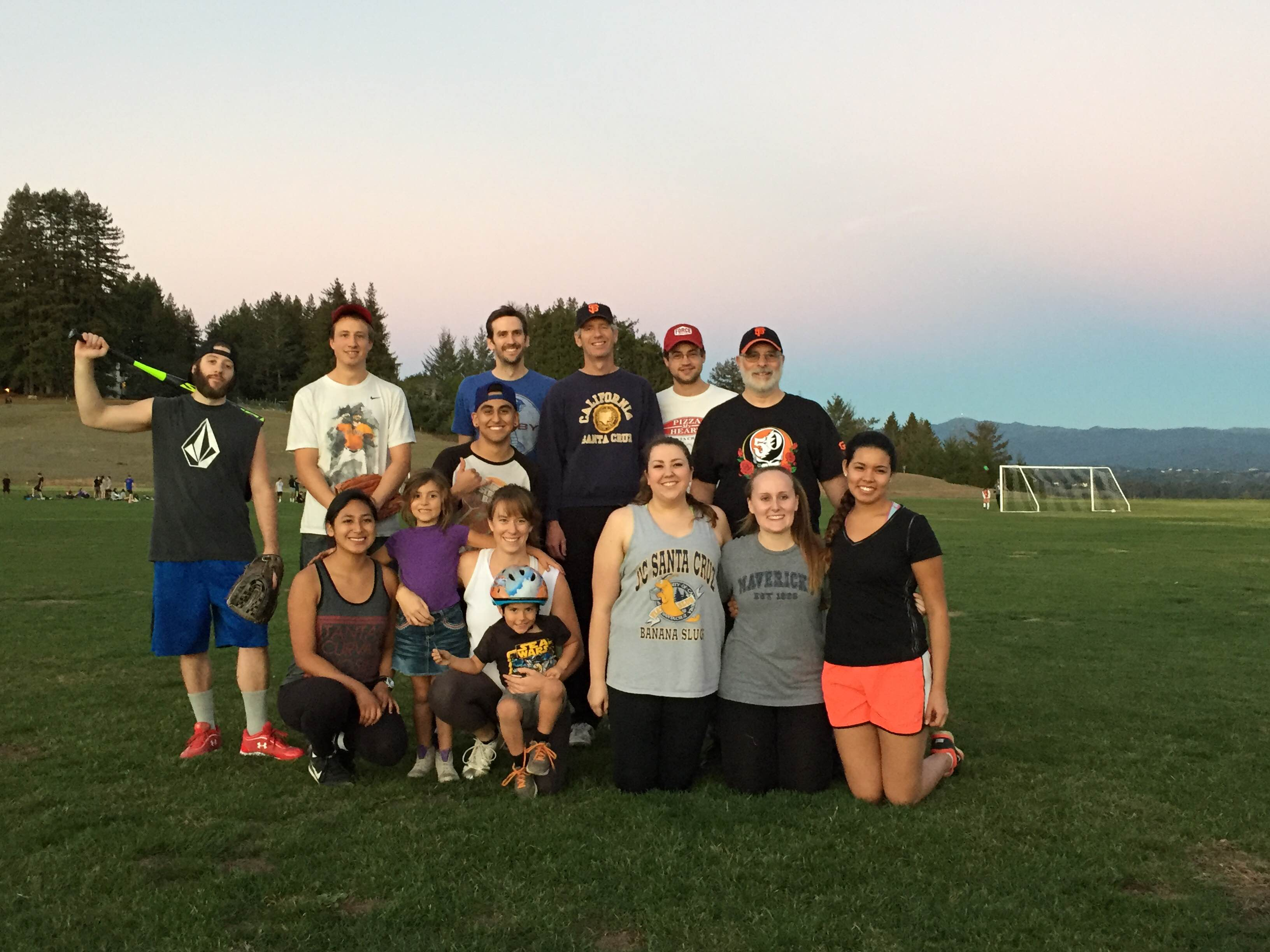 Fall 2015 Coed Softball Team