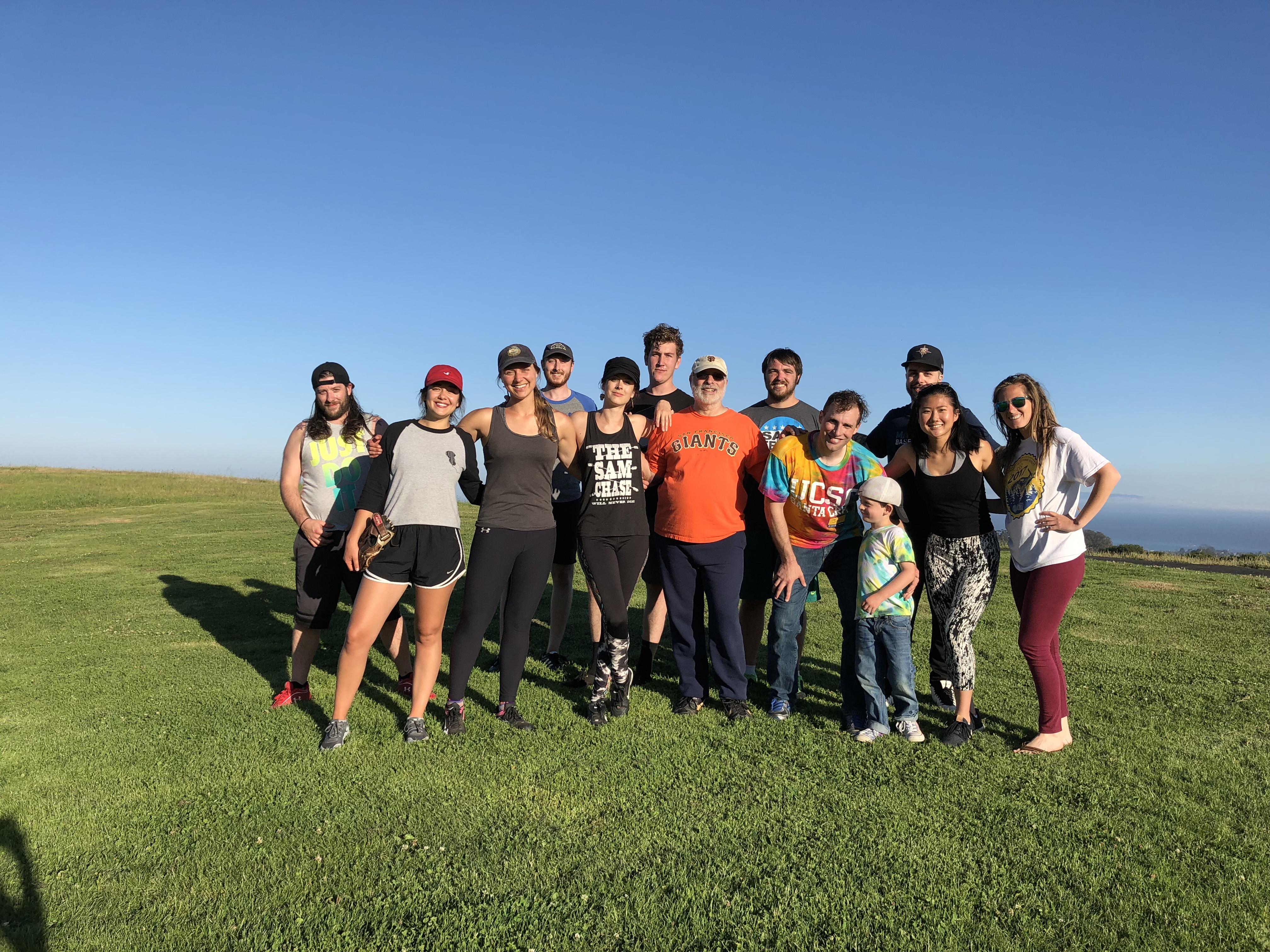 Spring 2018 Coed Softball Team